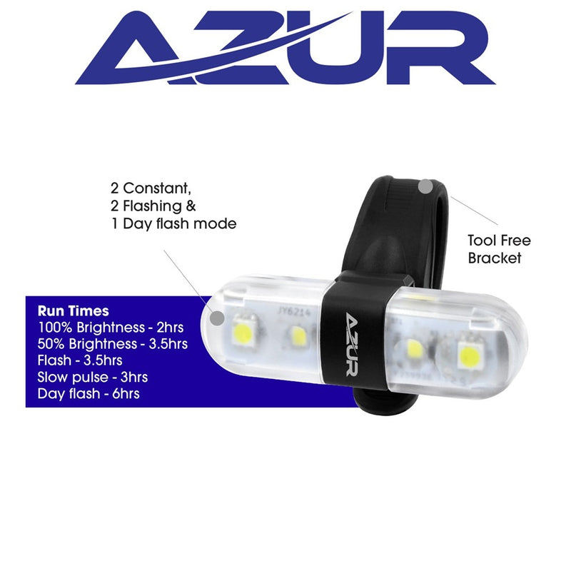 Azur Nano Head Light 60 Lumens USB Rechargable