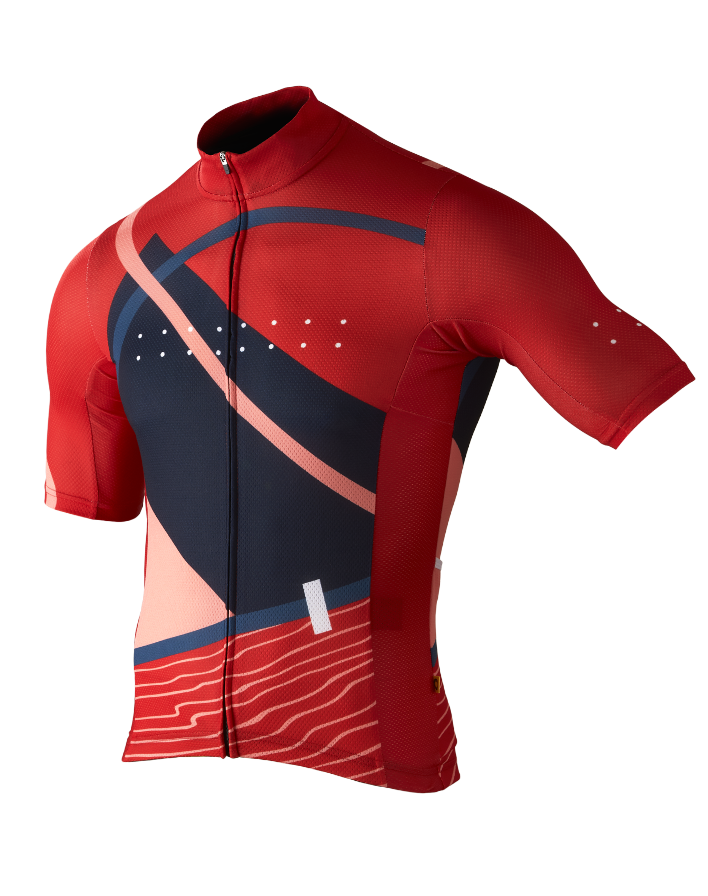 Pedla Full Gas Aero Linear Men's Cycling Jersey Red