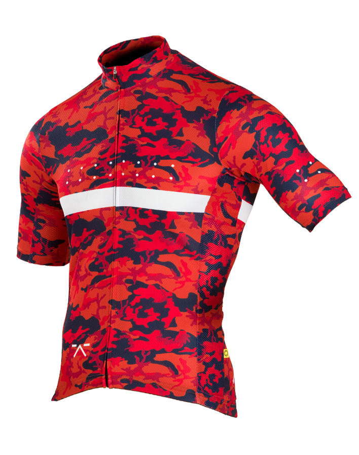 Pedla Full Gas Aero RideCAMO Men's Cycling Jersey Red
