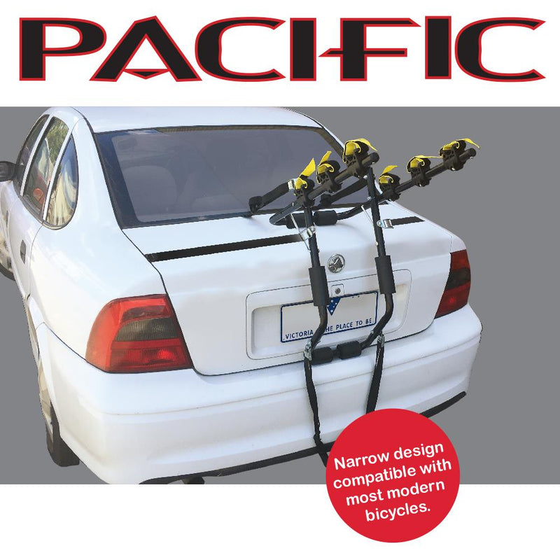 Pacific Rear Mount 3 Bike Carrier Car - Narrow Arms
