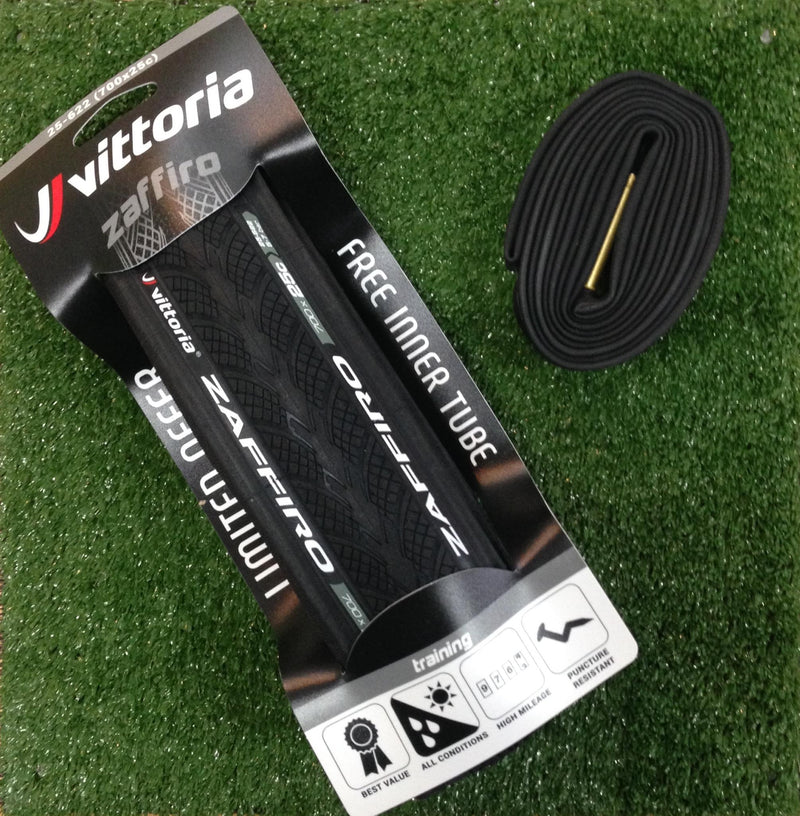 Vittoria Zaffiro 700 x 25 Pro Training Folding Tyre + Tube