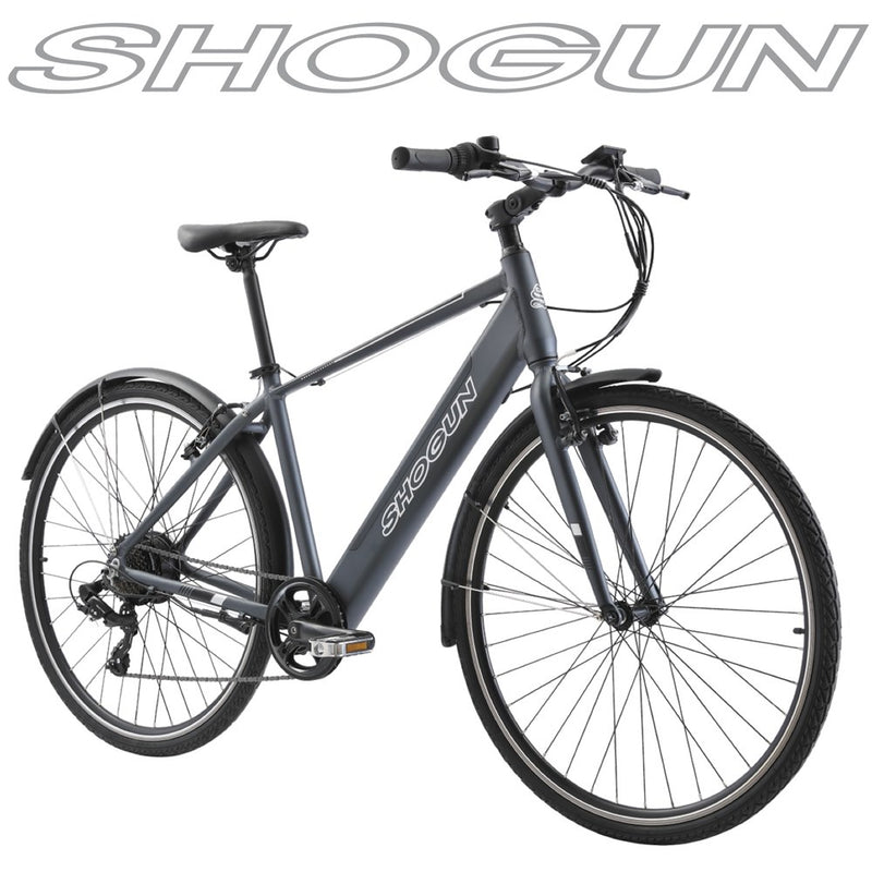 Shogun EB1 Flat Bar E-Bike Charcoal