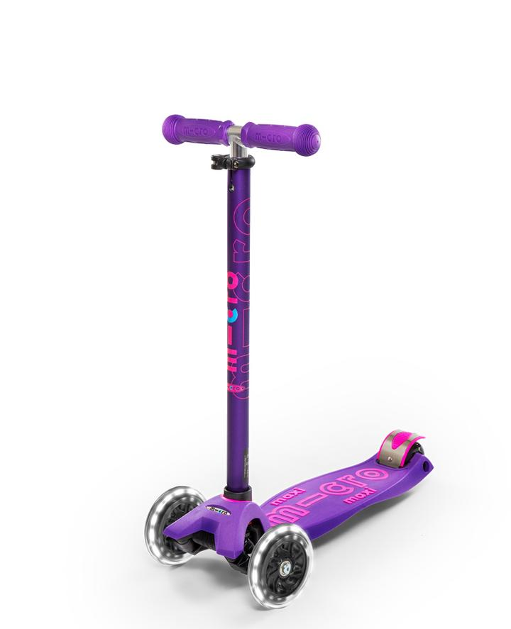 Micro Maxi Deluxe Scooter LED Purple