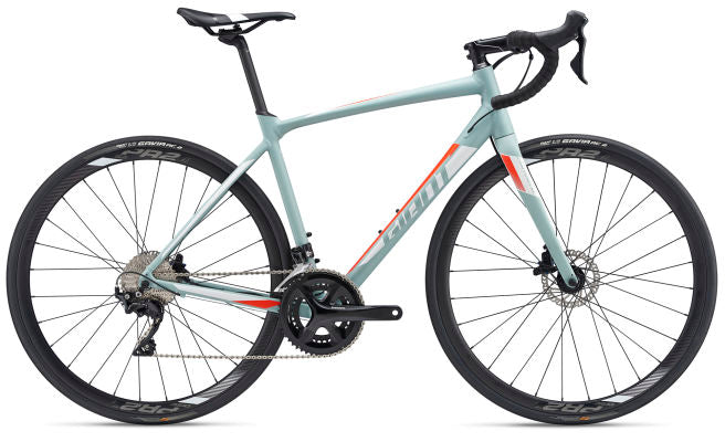Giant Contend SL 1 Disc Road Bike Grey Green/White/Neon Red