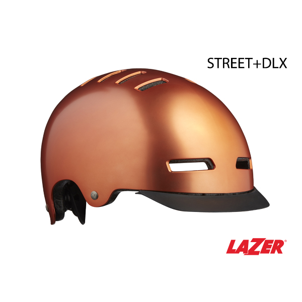 Lazer Street DLX + LED Helmet Copper