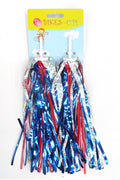 Bikes Up! Streamers (Silver, Red, Blue)