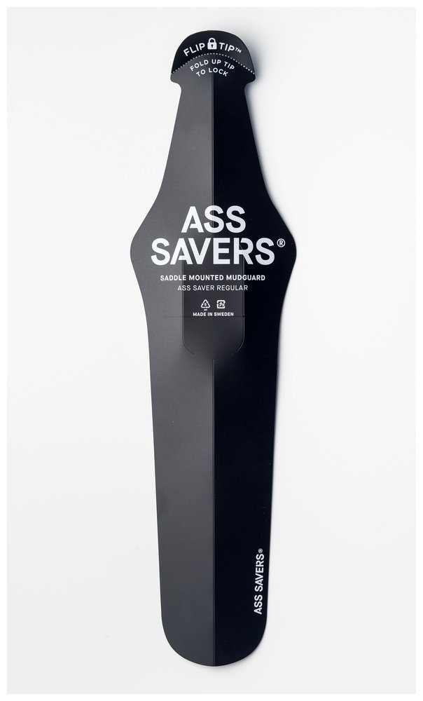 Ass Saver Regular Black Saddle Mounted Mud Guard