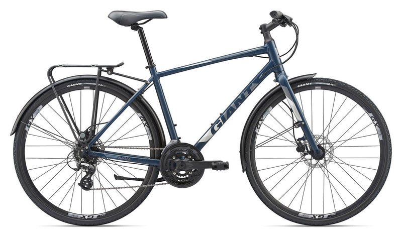 Giant Cross City 2 Equipped Disc Flat Bar Road Bike Navy Blue X-Large 2019