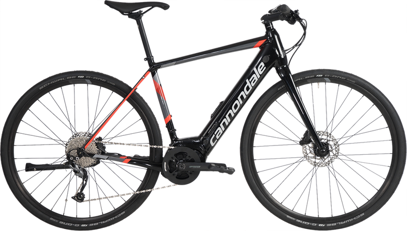 Cannondale Quick Neo Flat Bar E-Bike Jet Black w/ Acid Red 2019