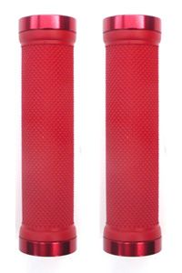 Lock-On Dual Clamp MTB Grips Red