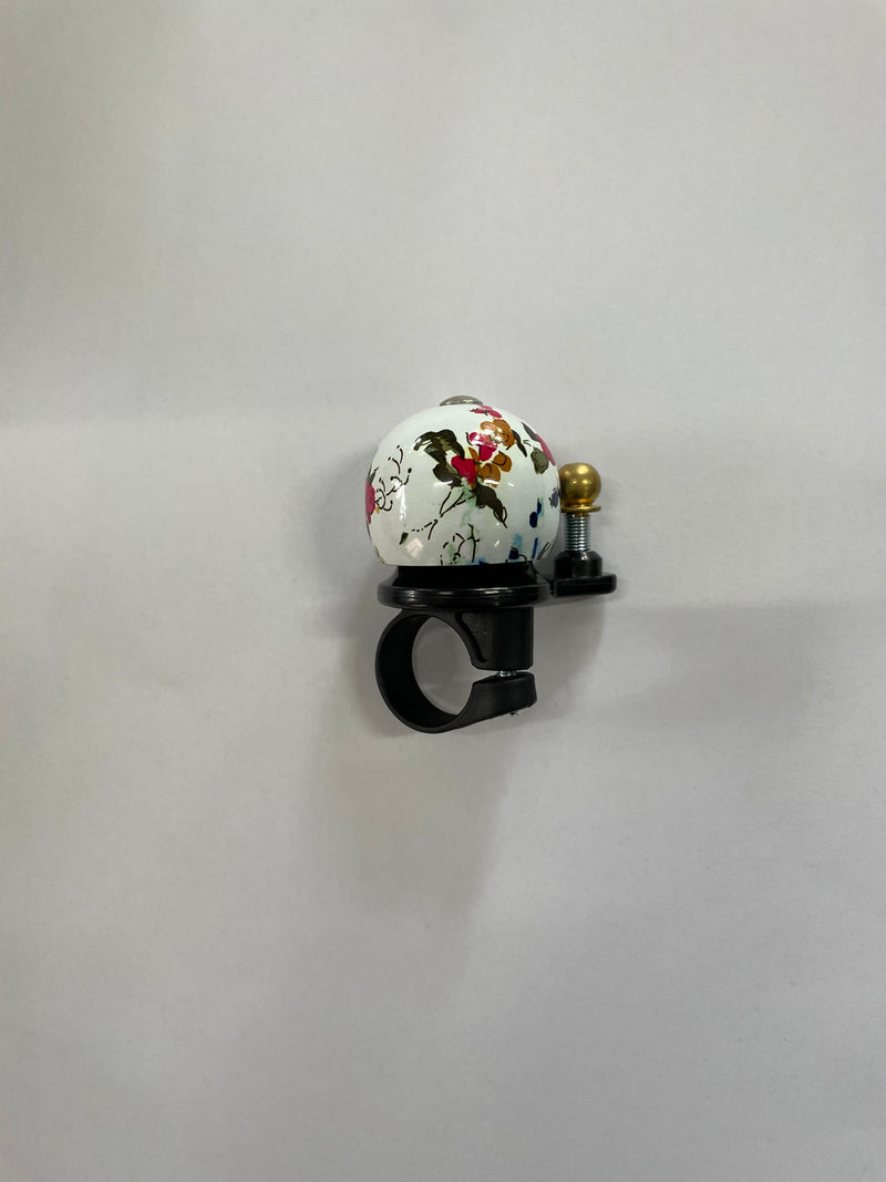 Allegro Bell Dome Painted White Flowers