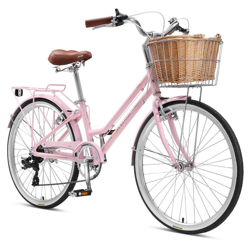 XDS Melody Girls Alloy Retro Bicycle 24 inch Blush Pink