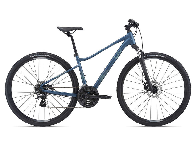 Liv Rove 4 Disc Womens Hybrid Bike Blue Ashes 2021