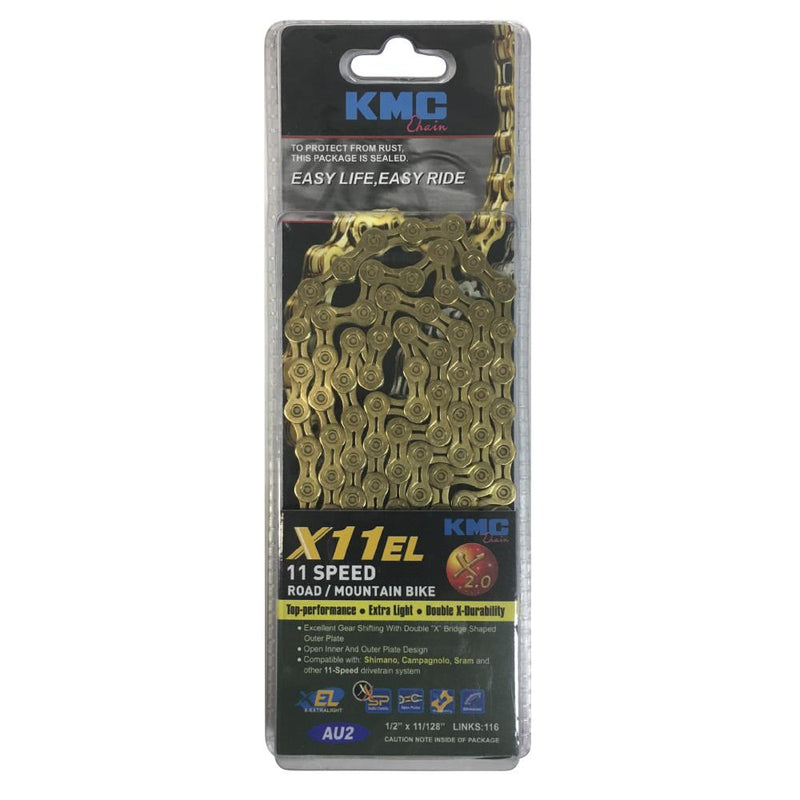 KMC 11 Speed Chain X11EL Gold