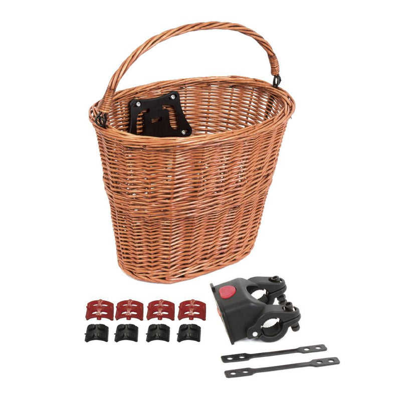 BC Quick Release Wicker Basket Front - Tan Colour