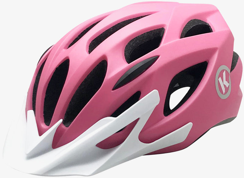 ByK Helmet Teen-Small Adult Cycling Helmet Matt Pink/ White 52cm-58cm