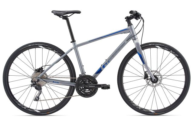Giant Cross City 0 Disc Brake Flat Bar Road Bike Silver 2018