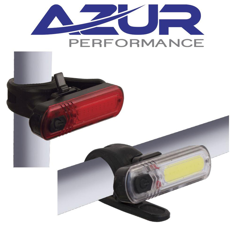 Azur ET USB 60L / 30L Bike Light Set