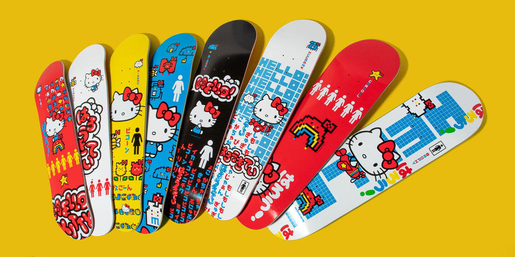 Hello Kitty x Girl Skateboards 45th Anniversary Series