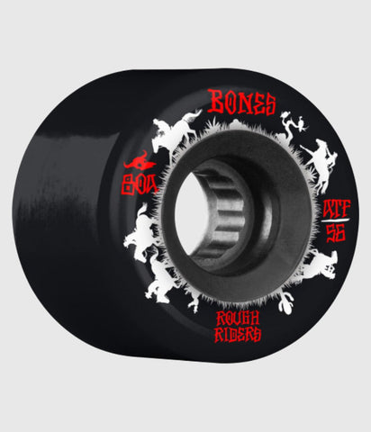 Bones Wheels Rough Riders Wranglers Core Skateboard Wheels Black 56mm