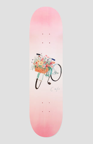 Skateboard Cafe Flower Basket Pink Skateboard Deck 8""
