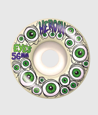 "Heroin Skateboards ""Eyes"" Glow in the dark Wheels 56mm"