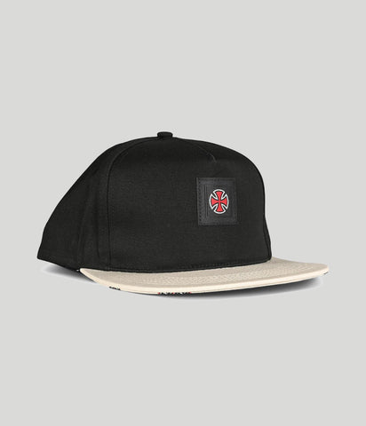 Independent Hachure Snapback Black/Athletic Heather