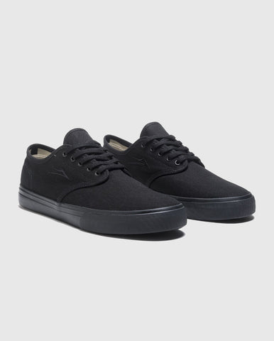 Lakai Oxford Skate Shoes Black/Black Canvas