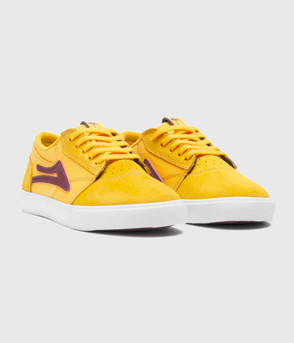 Lakai Griffin Kids Skate Shoes Gold Suede