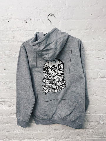 Lariatt X Alban Tattoo Co Skull Hood Grey