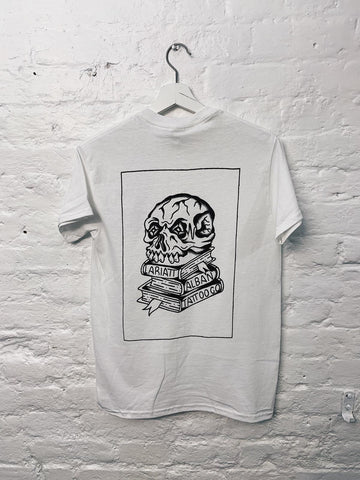 Lariatt X Alban Tattoo Co Skull T-Shirt White