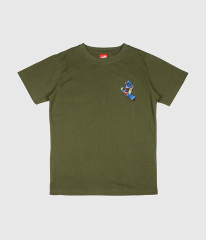 Santa Cruz Primary Hand Youth Skate T-shirt Olive