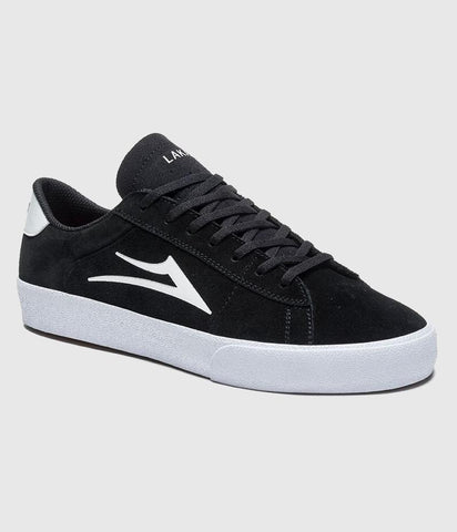 Lakai Newport Skate Shoes Black/White Suede
