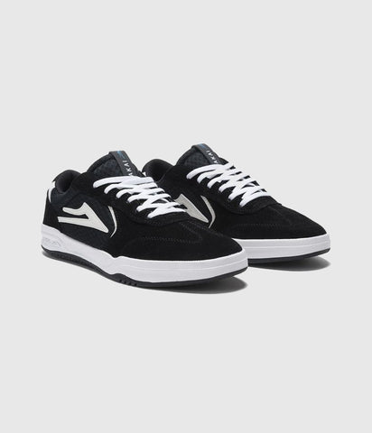 Lakai Atlantic Black / White Suede Skate Shoes