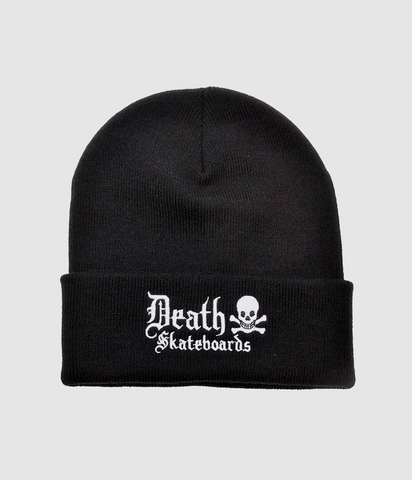 Death Skateboards Old English Fold Beanie Black