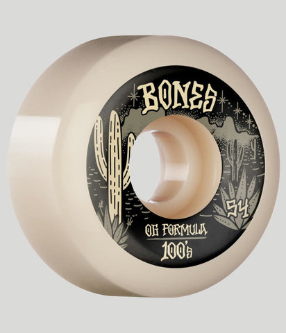 Bones Wheels 100's Desert West V5 Sidecut Skateboard Wheels 54mm