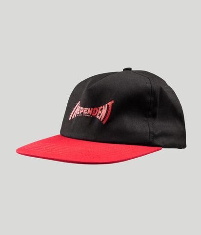 Independent Breakneck Snapback Cap Black/Red