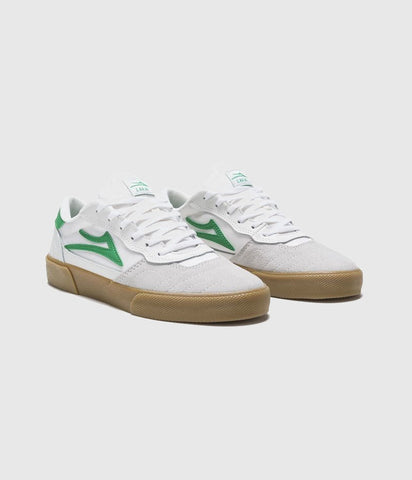 Lakai Cambridge Skate Shoes White/Grass Suede
