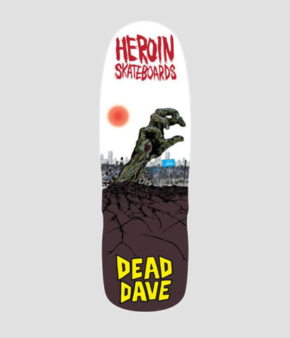 Heroin Skateboards Dead Dave Lives Skateboard Deck 10""