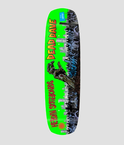 Heroin Skateboards Dead Dave Lives Double Shovel Skateboard Deck 9""