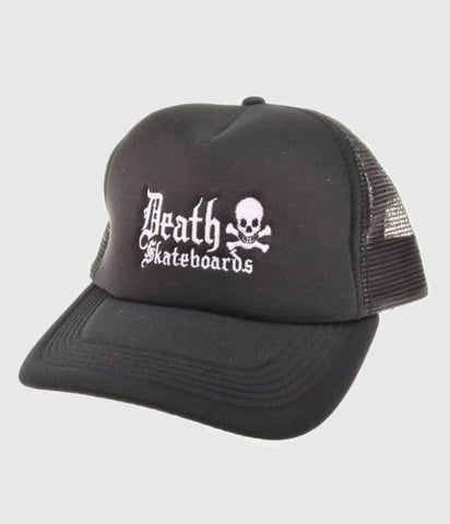 Death Skateboards Cap Snapback - Solid Black