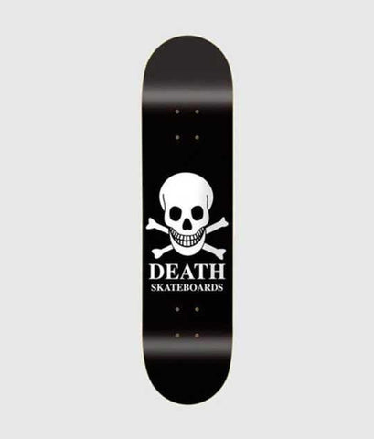 Death Skateboards OG Black Skull Deck 8""