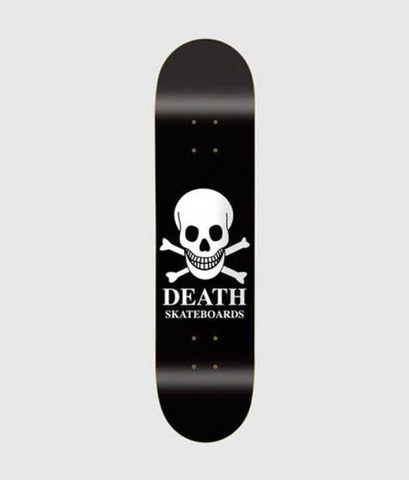 Death Skateboards OG Black Skull Deck 8.5""
