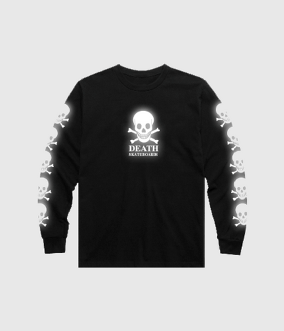 Death Skateboards OG Skull 3M Reflective Longsleeve T-Shirt Black