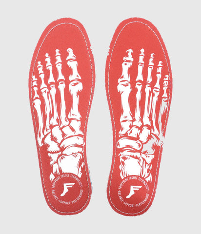 Footprint Kingfoam Flat Insole 5mm Skeleton Red/White
