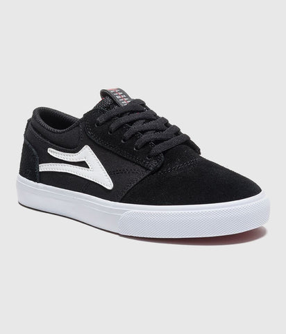 Lakai Griffin Kids Skate Shoes Black Suede