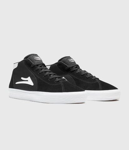 Lakai Flaco II Mid Skate Shoes Black Suede