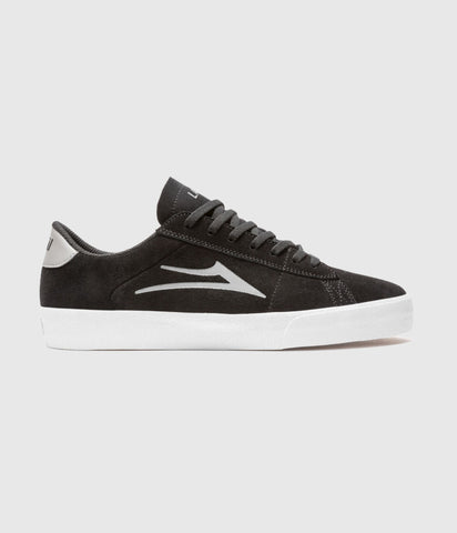 Lakai Newport Black/Grey Suede Skate Shoes