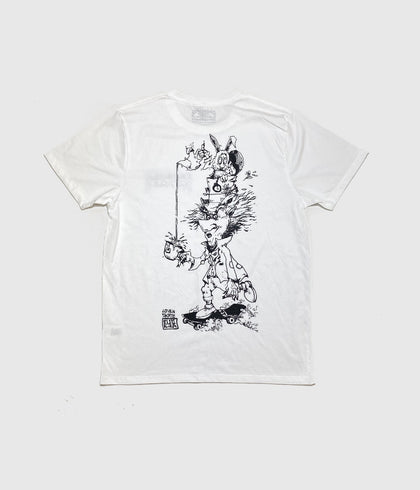 Lovenskate 'Mad Hatter' Short Sleeve T-Shirt White