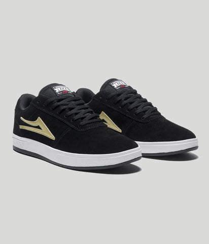 Lakai Manchester XLK Skate Shoes Black/Gold Suede
